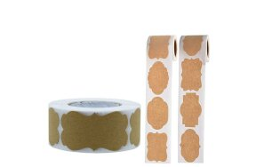 KRAFT PAPER STICKERS LABELS ROLL/300